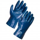 Blue Grit Cotton Supported Nitrile - 27cm Jersey liner